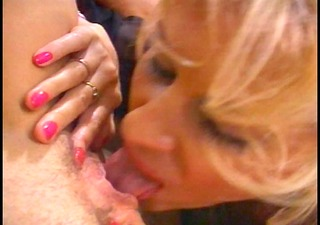 hot golden-haired goes vagina diving
